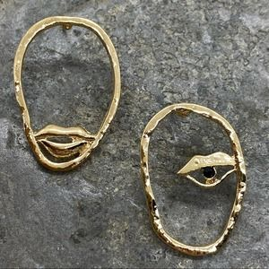 NEW Abstract Eyes And Lip Earrings